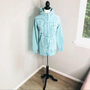 Burton zip-up hoodie Light blue / teal - M
